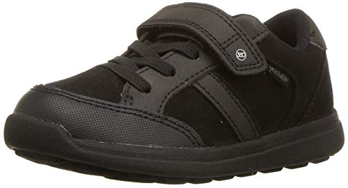 Stride Rite Boy's Made2play Nesta Girls Machine Washable Sandal Athletic Sneaker, Black, 11 W US Little Kid