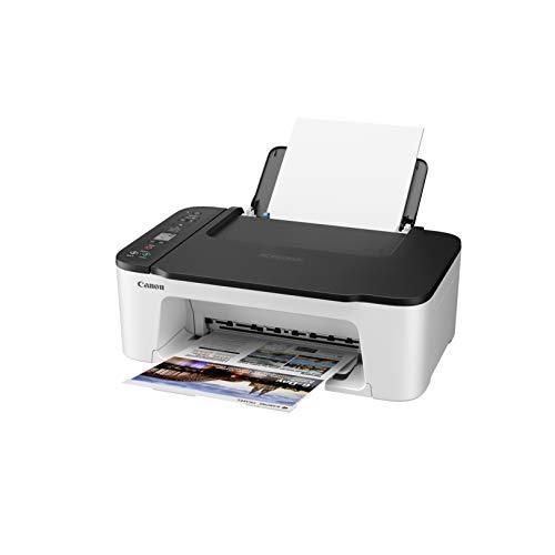 Canon Farbtintenstrahldrucker PIXMA TS3452 Multifunktionsgerät DIN A4 (Scanner, Kopierer, Drucker, 4800 x 1200 DPI, LCD, WLAN, USB, Apple AirPrint, PIXMA Cloud Link, Duplexdruck), schwarz weiß