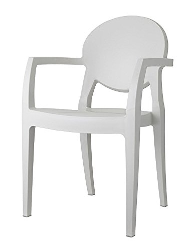 2x Silla de diseño color transparente fumé sillón con brazos Igloo de calidad italiana