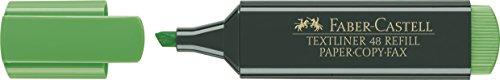 Faber-Castell 154863 - Caja con 10 marcadores fluorescentes Textliner 48, color verde