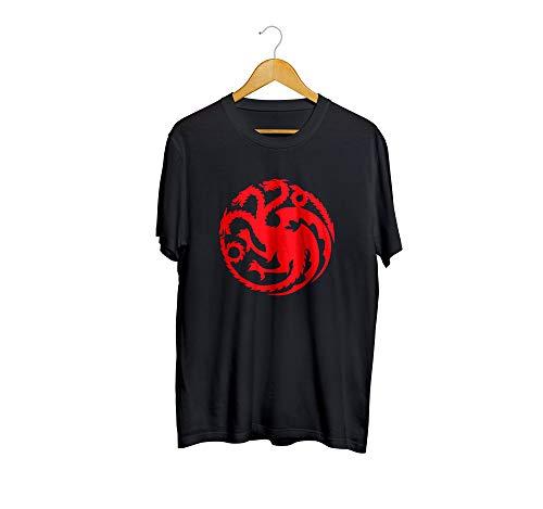 Camiseta Camisa Guerra dos Tronos Flah 01 Masculino preto Tamanho:G