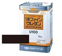 日本ペイント 1液ファインウレタンU100 ブラック 15kg