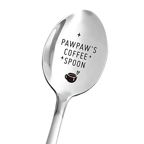 Best Papa Gifts for Grandpa  Funny Pawpaw#039s Coffee Spoon Engraved Stainless Steel  Coffee Lover Gift for Dad Men  Papa Gift from Granddaughter Grandson  Papa Father#039s Day/Birthday/Christmas Gifts