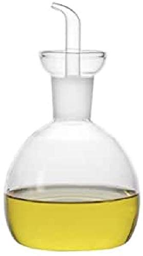 imf Aceitera-Vinagrera Redonda Antigoteo, Glass, Multicolor, 500 ml
