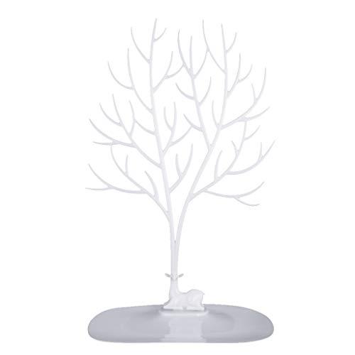 MIMORE Schmuckständer für Ohrringe, Armbänder, Halsketten, Weiß / Schwarz / Pink erhältlich – Weiß