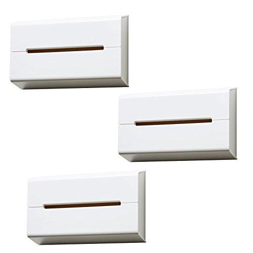 イデアコ ティッシュケース 壁に貼って使えるウォール ホワイト3個セット