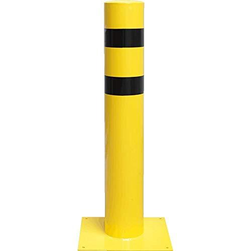 ROBUSTO Rammschutzpoller XXXL, zum Aufdübeln, gelb/schwarz, Stahl, Ø 21,9 cm aus Stahl