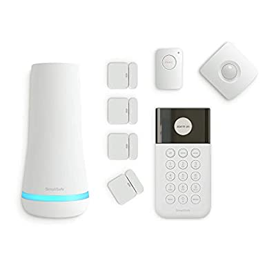 SimpliSafe 8 Piece Wireless Home Security System - Optional 24/7 Professional Monitoring - No Contract - Compatible with Alexa and Google Assistant , White