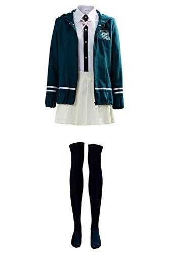 UU-Style Super Danganronpa Chiaki Nanami Cosplay Costume High School Outfit Uniform Dress Blue, Large