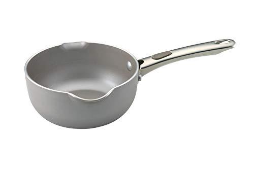 Farberware 20828 Specialties Nonstick Sauce Pan/Saucepan/Saucier with Pour Spouts, 1 Quart, Silver