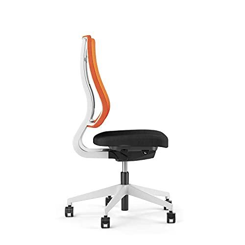 Viasit Drehstuhl Newback Gestell telegrau - ergonomisch (Orange, ohne Nackenstütze)