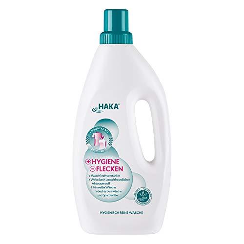 HAKA +Hygiene -Flecken I 1 Liter Bleichmittel auf Sauerstoffbasis I Kombinierbar Waschmittel I Hygienischer Fleckenentferner