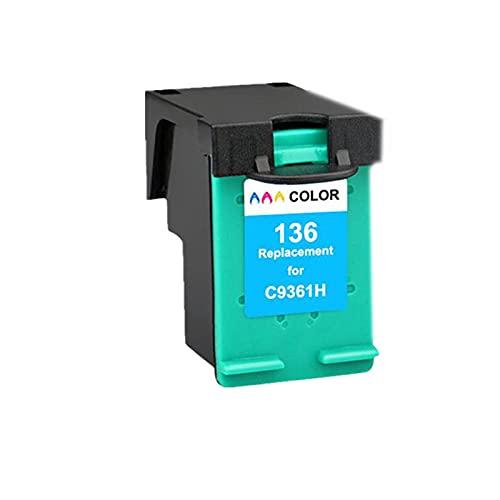 AXAX Cartucho de tóner para HP132XL 136XL Reemplazo Compatible para HP Photosmart C3100 C3110 C3125 C3135 C3140 C3150 C3170 Printe, fácil de Instalar Profesional Color