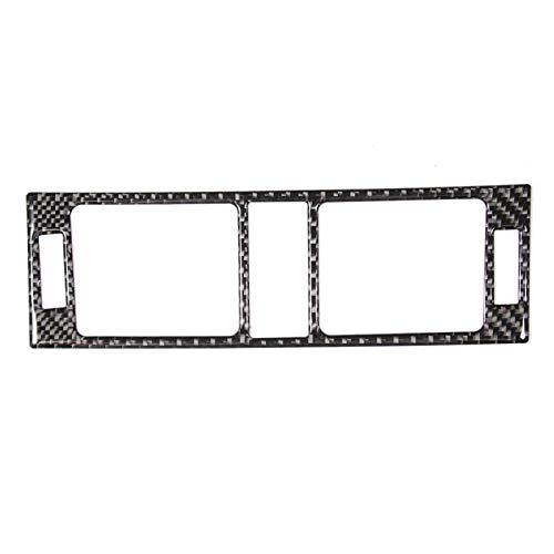 aqxreight - Panel de ventilación de aire acondicionado de consola central de fibra de carbono para C Class W204 05-12
