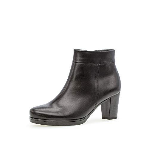 Gabor Damen Stiefeletten, Frauen Ankle Boots,Comfort-Mehrweite,Reißverschluss, halbstiefel Kurzstiefel knoechelhoch,schwarz (Micro),39 EU / 6 UK