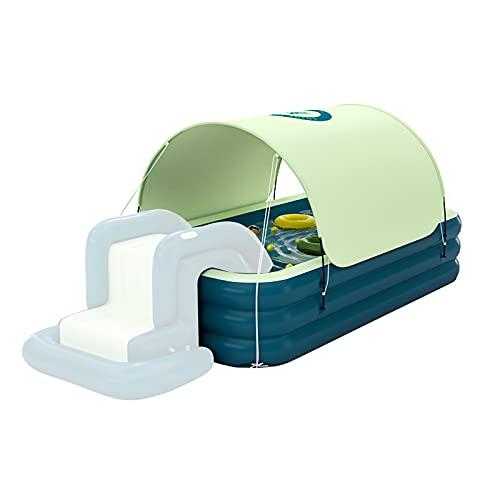 Piscina hinchable para coche, resistente al sol, piscina hinchable flotante, cubierta extraíble para patio trasero, fiesta de agua al aire libre