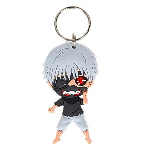 CoolChange Tokyo Ghoul Schlüsselanhänger mit Chibi Ken Kaneki Figur aus PVC