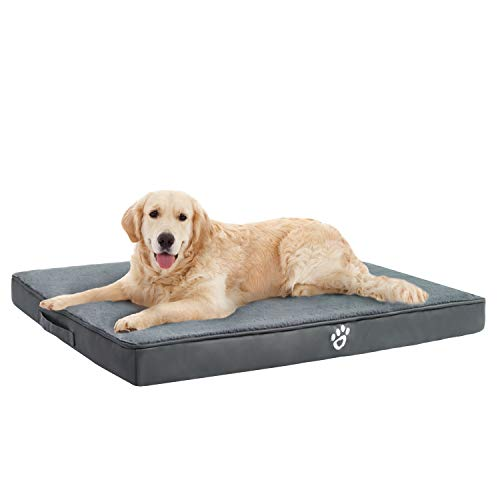 TR pet Orthopedic Memory Foam Dog Bed for Joint Pain Relief |Therapeutic Pets Mattress XL/XXL/XXXL for Small, Medium, Large Dogs Crates | Washable Removable Cover | Faux Fur Sleeping Surface Categories