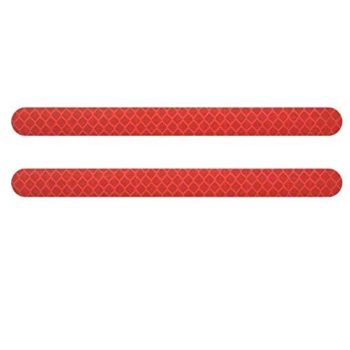 XINGFUQY 6Pcs Autoaufkleber Reflektor-Spiegel Reflexfolie Autozubehör Außen Reflex Band Reflektor-Streifen (Color : Red)