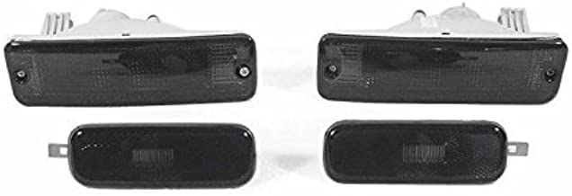 CPW (tm) 1989-1990 NISSAN 240SX EURO SMOKE FRONT BUMPERS SIGNAL LIGHTS + BUMPER SIDE MARKER LIGHTS