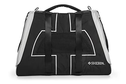 Sherpa Forma Frame Crash Tested Pet Carrier, Soft Liner, Mesh Windows, Spring Frame, Black, x Large