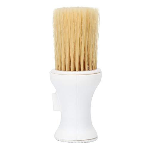 Cepillo para plumero, cepillo de limpieza para peluquería, herramienta para balayage para el cabello plumero suave para el cuello plumero para peluquería accesorios para peluquero profesional(blanco)