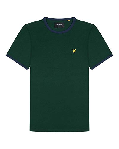 Lyle and Scott Mens Ringer T-Shirt - Cotton - M
