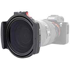 Allows the Use of 3 Square Filters + 1 Drop-in Circular Polarizer Includes 4 Adapter Rings(67mm, 72mm, 77mm or 82mm), Filter Holder and CPL 360-degree Rotation with Lock for Fixing Filter Position New Quick-release Clip Design Allows Very Smooth Inse...