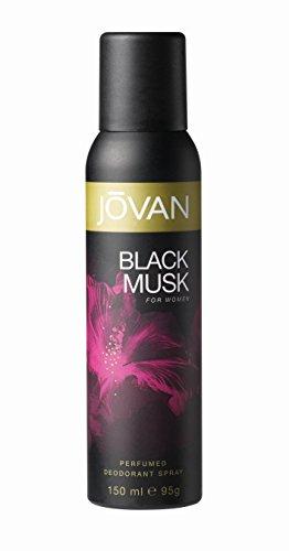 Jovan Deodorant Spray for Women, Black Musk, 5 Ounce by Jovan