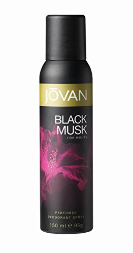 Jovan Deodorant Spray for Women, Black Musk, 5 Ounce
