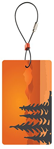 Lewis N. Clark Travel Green Luggage Tag, Trees, Orange, One Size