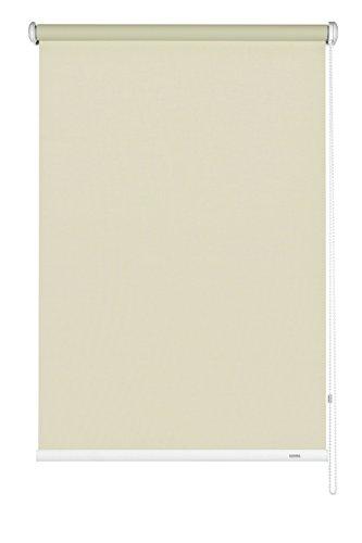 GARDINIA Seitenzug-Rollo zum Abdunkeln, Decken-, Wand- oder Nischenmontage, Lichtundurchlässig, Alle Montage-Teile inklusive, Creme, 92 x 180 cm (BxH)
