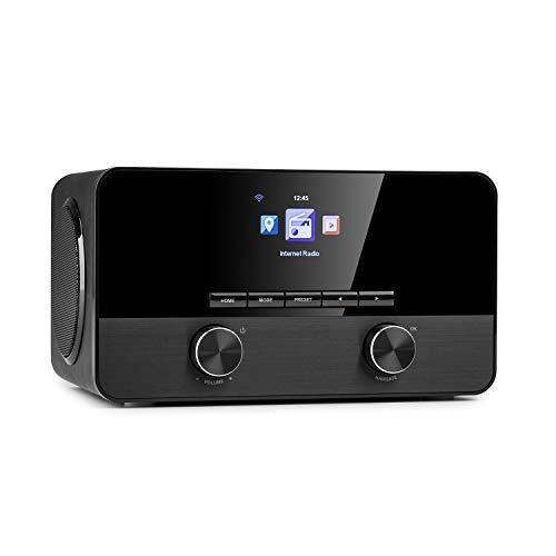AUNA Connect 100 SE - Internet Radio, Web Mediaplayer, Bluetooth, Wi-Fi: Lettore di Rete, App-Control, Schermo a Colori TFT da 2,4 , USB-Port, AUX-In, Line-Out, Nero