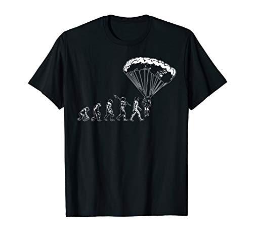 Paraglider Geschenk Herren Evolution Paragliding T-Shirt