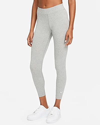 Nike Sportswear Essential Pantalon de survêtement Femme, DK Grey Heather/Blanc, S