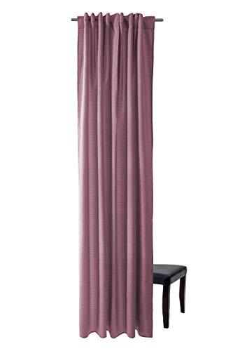 Homing blickdichter Vorhang Uni Gardine Altrosa (1Stück) 245 x 140 cm (HxB)