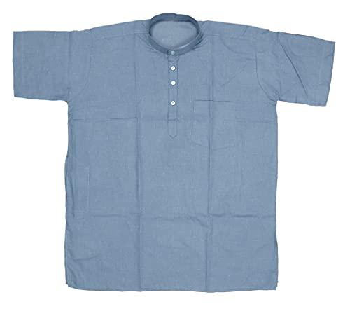 FIRST LOOK Regular Fit Dark Grey Colour Men's Cotton Short Kurta for Summer
