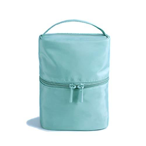 Kiki Grande capacité Sac cosmétiques Voyage Sac de Rangement Maquillage Portable Cylindre Femme de Poche Sac étanche Sac de Lavage (Color : Blue)