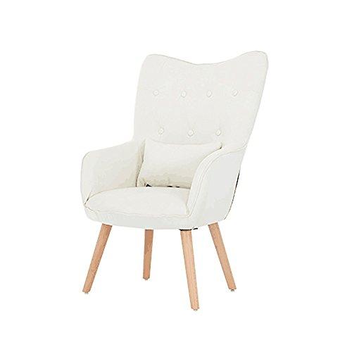 G-Y Canapé Paresseux, Nordic Tissu Unique Canapé, Chaise D'ordinateur Haut Dossier, Maison Petit Appartement Salon Chambre Canapé (Couleur : Blanc)