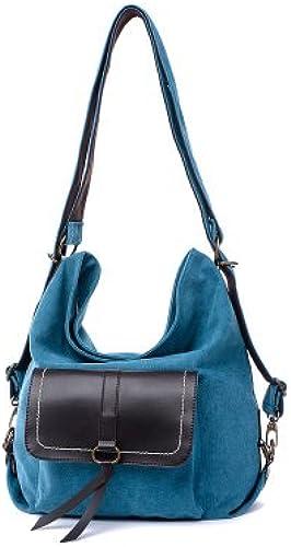Europa und die Vereinigten Staaten mode Rucksack Dame einfach Schultertasche obliquer Querschnitt Pack Rucksack, blau