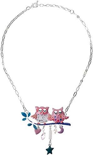 huangshuhua Aleación Elegante búho pájaro Collar Colgante Collar Animal joyería para Mujeres niña Dama Mascota Animal Amantes Regalo