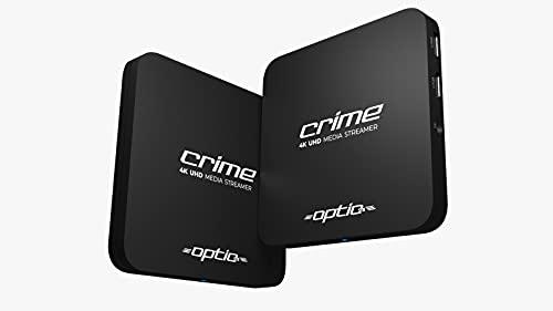 OPTIC Crime Android 10.0 4K IPTV Set Top Box Multimedia Player Internet TV Receptor IP # 4K UHD 60FPS 2160p @ 60 FPS HDMI 2.0# HEVC H.256 Soporte # ARM Cortex-A53 + cable HDMI