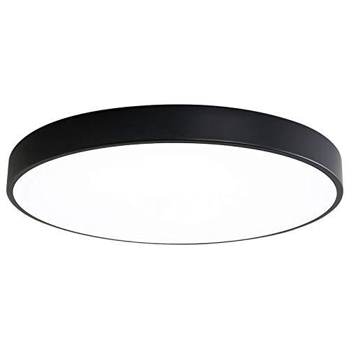 Deckenlampe Ohne Bohren Kabelkanalverlängerung Deckenlampe Deckenlampe Dachschräge Smart Deckenlampe Bedroom-60Cm_48W_White Light_A Abschnitt Schwarz