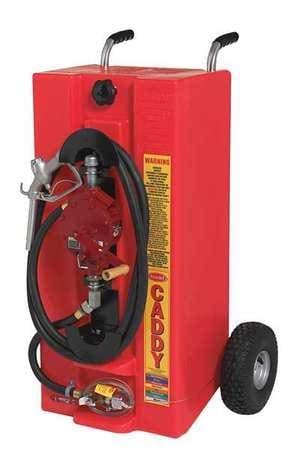 28 gal. Red Polyethylene Fuel Caddy for Gasoline