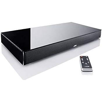 Canton 03560 DM-75 Lack seidenmatt Soundbar mit Glasplatte schwarz