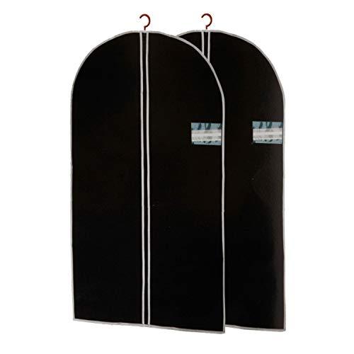 GEEZY 2 Pcs Zip Up Hanging Suit Dress Coat Garment Bag Clothes Cover DustProof Storage