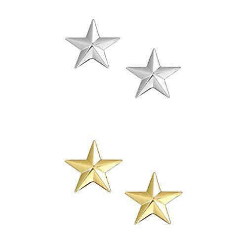 joyMerit 4X Bling Silver Golden Star Broche de Boda para Hombre Pin de Cóctel Fiesta de Graduación Joyería