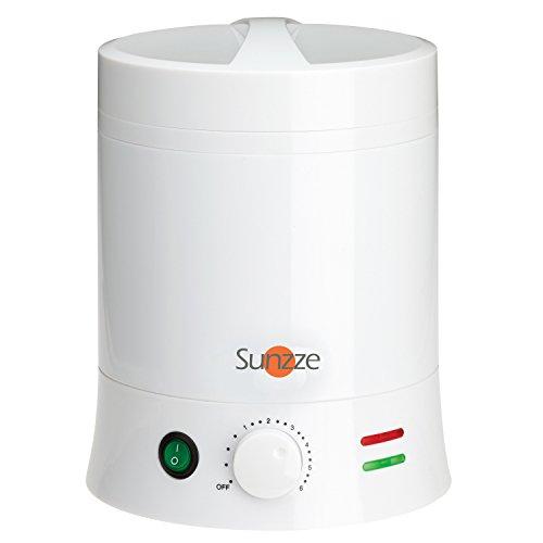 Sunzze Profi 800ml Wachserhitzer für 800ml Dosen, Blöcke oder Wachsperlen mit Einsatz für das Erwärmen von Wachs für die Epilation / Enthaarung