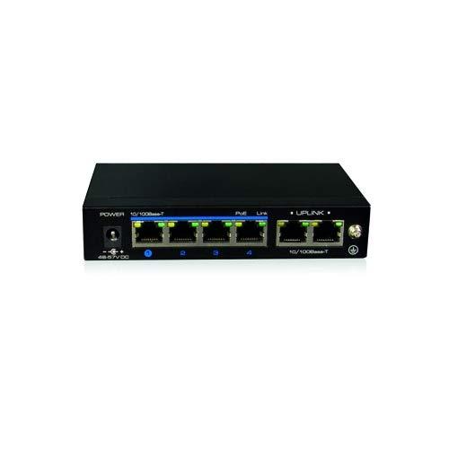 Switch PoE de 4 Puertos y 2 Puertos uplink para CCTV TBK-SWPOE4B
