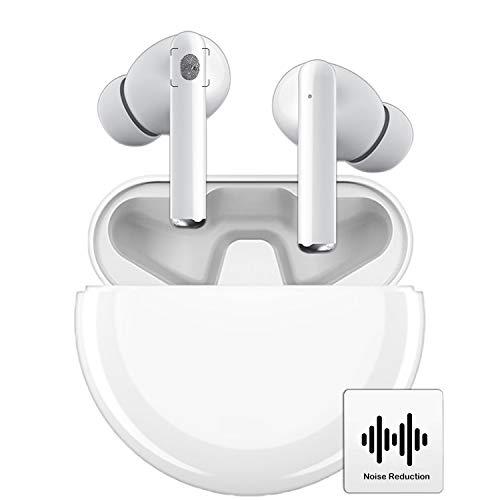 Auriculares Inalámbricos Bluetooth 5.0, Auriculares Bluetooth con Estuche de Carga Portátil, 8 Horas de reproducción, cancelacion,Auriculares Deportivos para Android/iPhone/Samsung/AirPods/Huawei